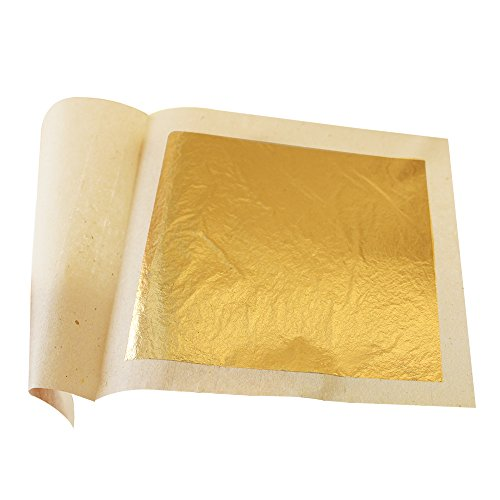 (Edible Gold Leaf Gold Foil Sheets 4.33 x 4.33 cm 24K Pure Genuine Facial Edible Gold Leaf for Cooking, Cakes and Chocolates, Decoration, Health & Spa (10 Sheets))