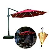 Areskey Umbrella Lights,Warm White 104 LED Starry Lights,Applies to Large Patio Table Umbrella,or Portable Umbrella,Bistro Pergola,Deckyard,Tents,Cafe,Garden,Travel,Beach,Party Decor (only Light)
