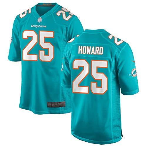 - Men's/Women's/Youth Xavien_Howard_#25_Dolphins Sports Miami Game Player Jersey L Aqua