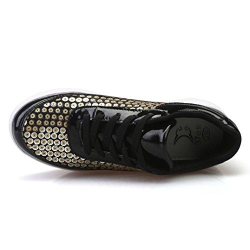 6cd1659e2af05 new Femme basket mode jeunesse compensé paillette glitter chaussure de sport  pour voyage rendez-vous