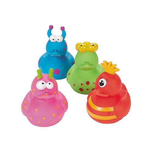 Fun Express - Monster Ducks for Halloween - Toys - Character Toys - Rubber Duckies - Halloween - 12 Pieces ()