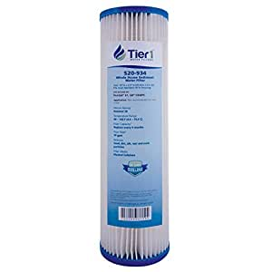 Tier1 Replacement for Pentek S1 20 Micron 10 x 2.5 Pleated Cellulose Water Filter