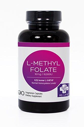 MD LIFE L-MethylFolate 10mg -Active 5-MTHF 90 capsules