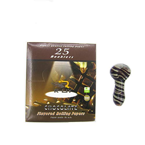 R-LIY Flavored Rolling Papers One Box   Free for Gift Art Small Tobacco Pipe (Chocolate)