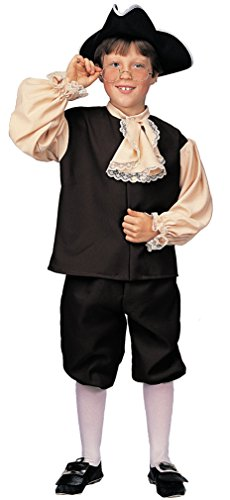 Rubie's Deluxe Child's Colonial Boy Costume, Large (Colonial Day Costumes)
