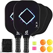 Odoland Pickleball Paddle Set, Lightweight Graphite Surface and Polymer Honeycomb Core, Pickleball Paddles wit