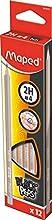 Maped Black'Peps 850023 2H- Lápiz Gris Naranja, 1 unidad