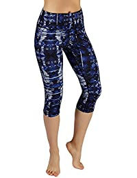 Power Flex Women's Tummy Control Workout Running Printed Pants Yoga Pants with Hidden Pocket,Camouflage, Small