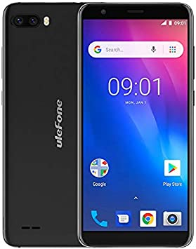 Ulefone S1 Mobile Phone Android 8.1 5.5 pulgadas 18: 9 MTK6580 Quad Core 1GB RAM 8GB ROM 8MP + 5MP Cámara dual trasera 3G Smartphone: Amazon.es: Electrónica