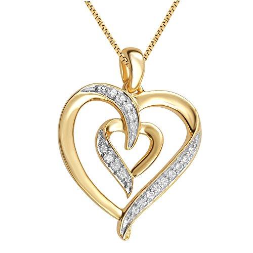 Diamond Accent Double Heart Pendant ()