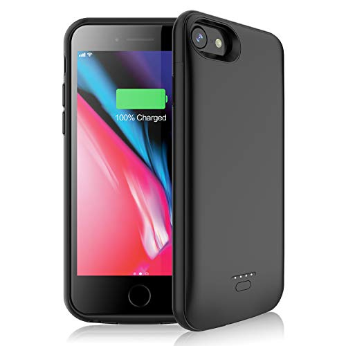 JUBOTY Battery Case for iPhone 6/6s/7/8, Upgraded [4000mAh] Protective Portable Charging Case Rechargeable Extended Battery Pack for Apple iPhone 6/6s/7/8 (4.7) Charger Case