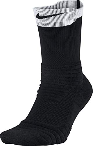 Nike Elite Versatility Crew Basketball Socks (Black/White/Black, Small) (Nike Youth Elite Basketball Socks)