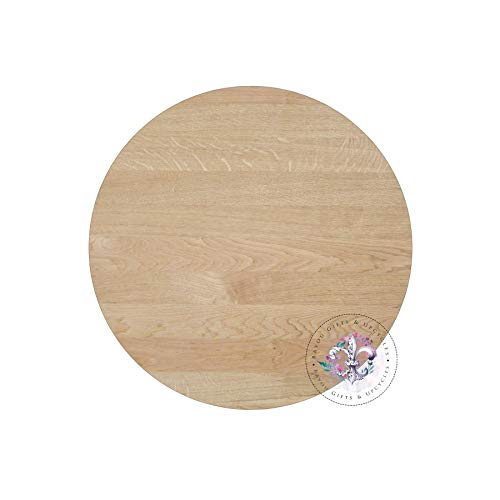 MarthaFox Wood Round 14 Thick Wood Round Unfinished Clock face Wood Circle Round Cutout Unfinished Blank Clock face Blank Round Blank Circle ()