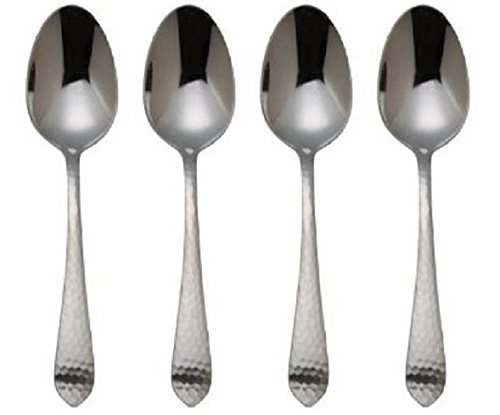 Reed & Barton Stainless Hammered Antique Teaspoons (Set of Four)