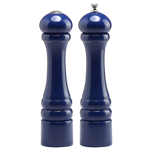 Chef Specialties 10 Inch Imperial Pepper Mill and Salt Shaker Set - Cobalt - Blue Salt And Pepper