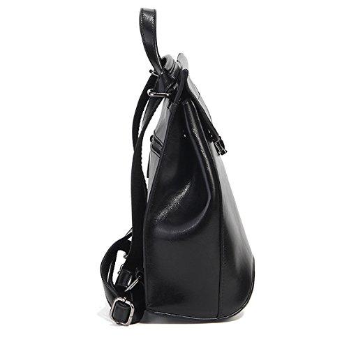 portés LF cuir Sac à fashion E femme en Sac Girl dos main Noir 8967 gwxPq5