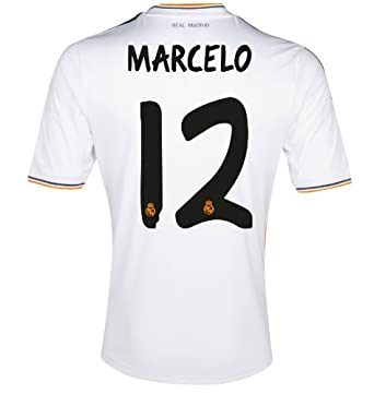 8b174a149 Amazon.com  Adidas MARCELO  12 Real Madrid Home Jersey 2013-14 (2XL ...