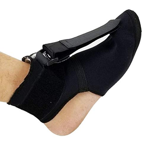 genmine Plantar Fasciitis Soft Night Sock Stretching Splint Boot Adjustable Foot Toe Brace Support Wraps Orthosis Brace for Ankle Plantar Fasciitis (Small)