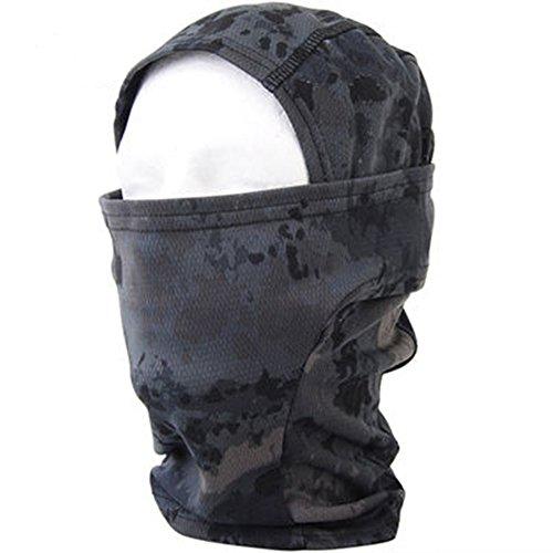 Sizet Tactical Military Camo Balaclava Ski Full Face Mask (Camo Hockey Mask)