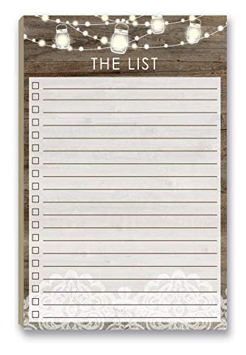 Rustic To Do List Notepad with Magnetic Back - 8.5