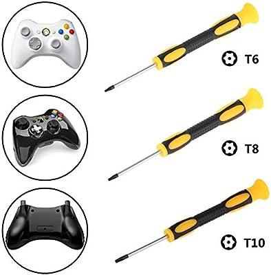 Jinxuny Destornillador Driver Tool T6 T8 T10 Torx Security Destornillador a Prueba de manipulaciones para Xbox One 360 PS3 PS4 (Size : T6): Amazon.es: Hogar