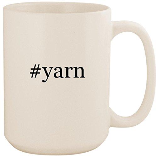 Deborah Norville Sport Yarn - #yarn - White Hashtag 15oz Ceramic Coffee Mug Cup