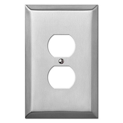 Mulberry Oversized Stainless Steel - 1 Duplex Outlet Wallplate