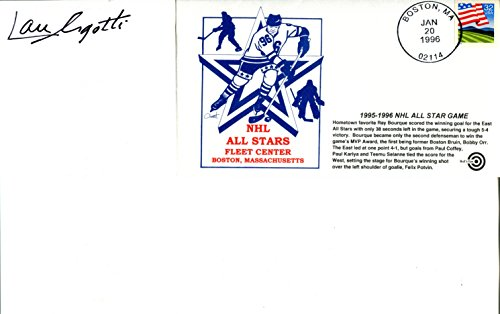 - Lou Angotti Autographed Roster with 1995-1996 NHL All Star Game Envelope