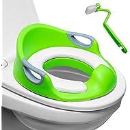 Potty Training Seat for Boys & Girls   Detachable Soft Cushion   Sturdy Handles   Urine Splash Guard   Non-Slip Rubber Grip   Includes Free Brush- Magic Baby