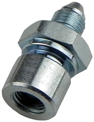 (E-11-9) -3AN Male To 7/16-24 Female SAE Brake Line Fitting Adapter For 1/4' HLF02 1pc (E-11-9) Inline Tube