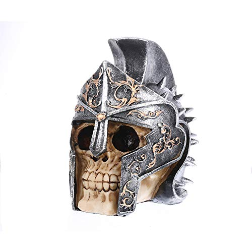 Money Coins Toy Banks Cents Penny Saving Helmet Taro Resin Crafts Horror Skull Ornament Taro Piggy Bank ()