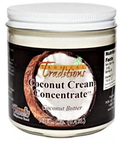 Tropical Traditions Organic Coconut Cream Concentrate - 1-Pint (16-oz) (Tropical Traditions Coconut Oil)