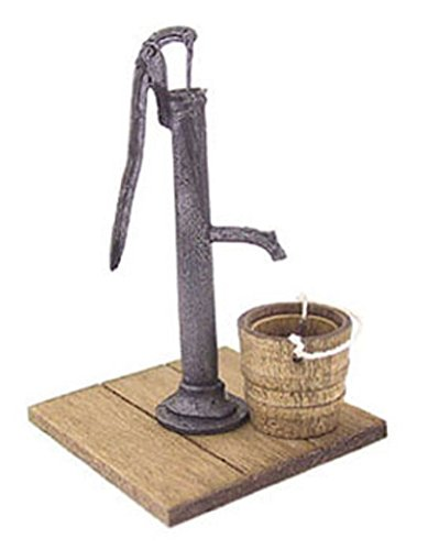 Dollhouse Miniature Water Pump with Wooden (Dollhouse Pumps)