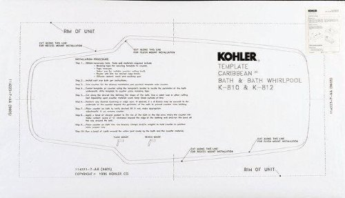 KOHLER K-587-NA Kathryn/Tea-for-Two 5.5-Foot Undermount Installation Kit