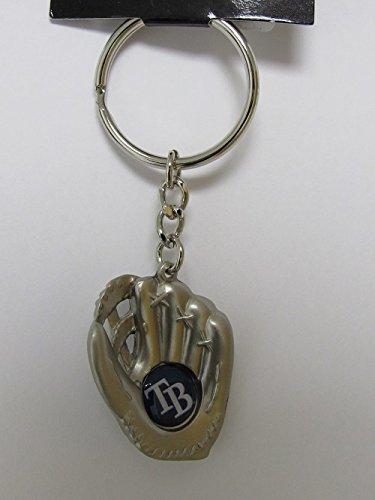 (aminco Tampa Bay Rays - MLB Silver Baseball Glove Keychain)