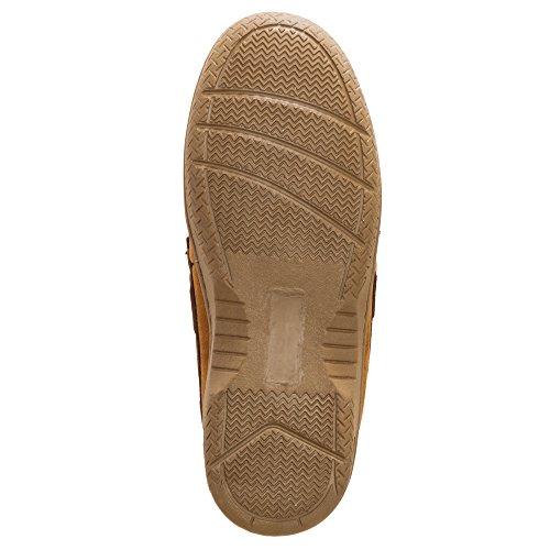 Heat Edge Mens Memory Foam Suede Slip on Indoor/Outdoor Moccasin Slipper Shoe (11, Tan) by Heat Edge (Image #2)