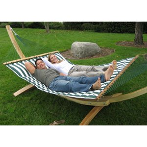 luxurious cushioned pillow top hammock double sided   green white amazon     luxurious cushioned pillow top hammock double sided      rh   amazon