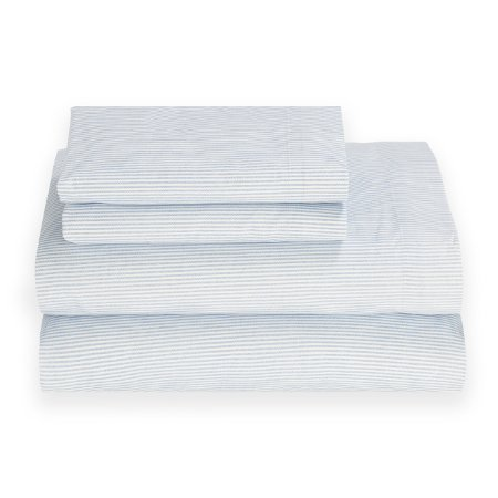 Tommy Hilfiger Ithaca Stripe Rivera Blue Sheet Set, Full Size ()