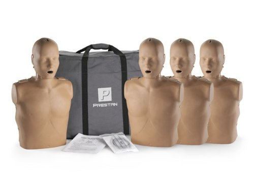 Prestan Professional Adult Dark Skin CPR-AED Training Manikin 4-Pack (with CPR Monitor) ()