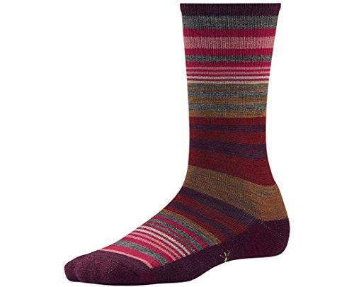 Smartwool Women's Jovian Stripe Socks (Aubergine Heather) Small
