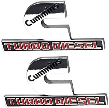 1x Cummins Turbo Diesel Emblem Badges High Output Replacement for RAM 2500 3500 Fender Emblem Emzscar