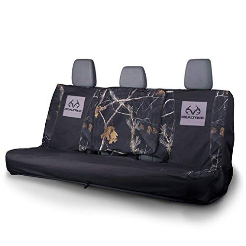 Realtree Camo Seat Cover | Bench | Ap Black | Full Bench, AP Black, Full Size