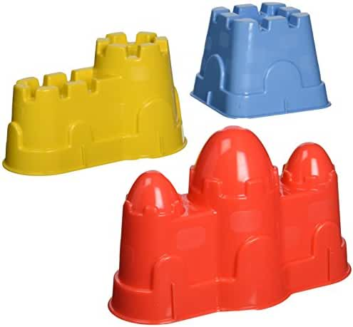 Small World Toys Sand & Water - 3-Piece Sand Castle Set (colors vary)
