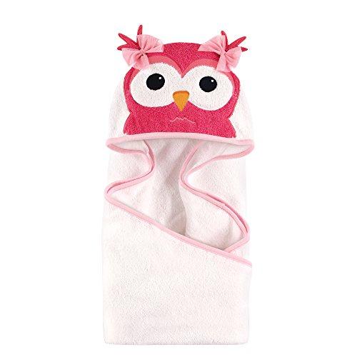 Hudson Baby Animal Face Hooded Towel, Cutsey Owl