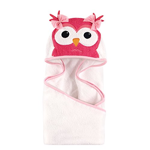 Hudson Baby Unisex Baby Animal Face Hooded Towel, Cutesy Owl 1-Pack, One Size ()