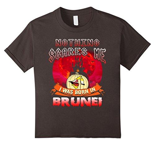 Kids Nothing Scares Me I Was Born In Brunei Halloween Shirt 12 Asphalt