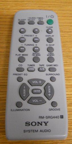 Sony RM-SRG440 System Audio Remote Control -  LYSB0070XLMES-ELECTRNCS
