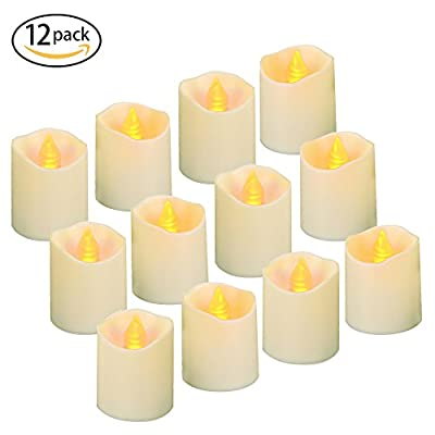 Flameless LED Tea Lights, 12PCS, Battery Operated Tea Lights, Electric Fake Candle in Warm White for Festivals Parties, Outdoor, Gift - ANWONE