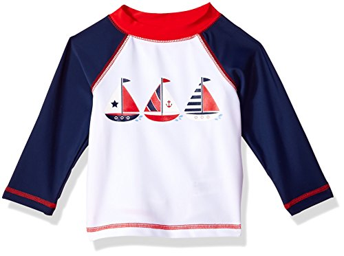 Little Me Baby Boys' Long Sleeve Rashguard, Sailboat, 12M by Little Me