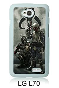 Newest LG L70 Case ,star wars mandalorian White LG L70 Screen Phone Case Popular Fashion And Durable Designed
